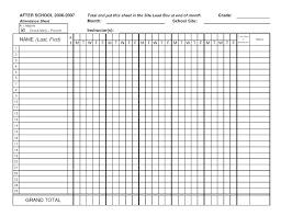 Weekly Attendance Register Template Register Template For Teachers Derbytelegraph Co