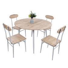 Amazoncom Lucky Tree 5 Piece Kitchen Table And Chairs For 4