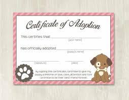 Pet Adoption Certificate Template Pet Adoption Certificate Template Fake Adoption Papers For