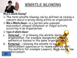 the whistle essay