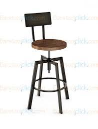 adjustable height swivel bar stool. Amisco Architect Screw Adjustable Height Swivel Bar Stool With Distressed Wood Seat And Metal Backrest - 40563 U