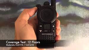 motorola cls1110. radio coverage test: motorola cls1110 / cls1410 (inside building) cls1110 n