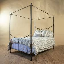 Wrought Iron Canopy Bed Frame | King Size Iron Bed