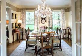 amazing dining room crystal chandelier over elegant table with stained wooden chairs lighting above height wood chandelier over dining table