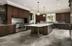 image of slate floor kitchen remodel slate floor kitchen amazing grey tile wood countertops kitchens