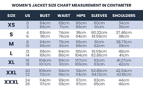 Women Size Chart Leather Vista