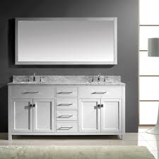 White Double Bathroom Vanities Virtu Usa Caroline 72 Double Bathroom Vanity Set In White