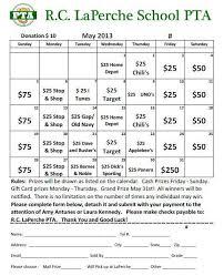 Calendar Raffle Template May Calendar Raffle Purchase Tickets Today