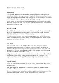 Bewajis Ideas On African Morality Essay Pls1502 Unisa