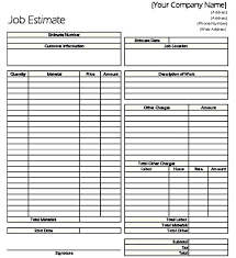 Contractor Quote Forms Template Opusv Co