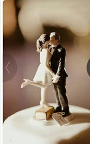 For The Short Girl That Married The Tall Guy Bridal Cake Toppers