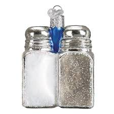 salt and pepper shakers. Salt And Pepper Shakers Ornament For Christmas Tree