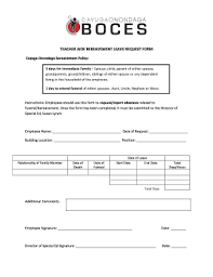 Bereavement Leave Request Form - Edit Online, Fill, Print & Download ...