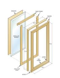 How to Make a Mirror Frame. For extra mirrors we have. Can use in bedroom:)  (Diy Pallet Mirror)