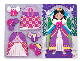 princess dress up princess wooden jigsaw puzzle