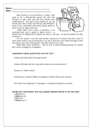 Jobs Reading Comprehension | My English Printable Worksheets