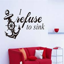 brief style proverb boat anchor wall stickers for living room decorate vinyl decals bedroom home art decor poster murals k521 wall stickers for