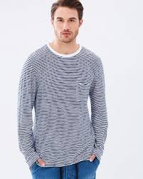 academy brand mens linen breton stripe tee navy white 72144