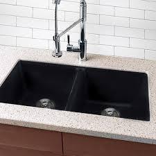 black undermount sink. Beautiful Undermount Highpoint Collection Granite Composite Black Undermount Kitchen Sink In I