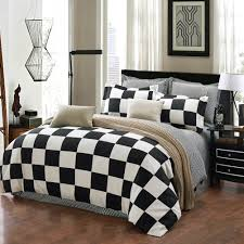 hand painted fl 7 piece duvet cover set mystic black queen