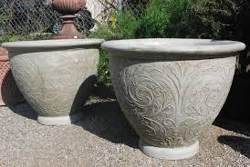 Big Concrete Planters Make Your Own Plant Pots Trendy Garden Ideas Diy With Make Your
