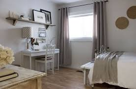 guest bedroom and office. White-modern-vintage-rustic-guest-bedroom-office.jpg Guest Bedroom And Office