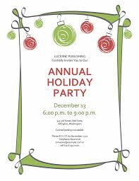 Free Christmas Party Templates Invitations