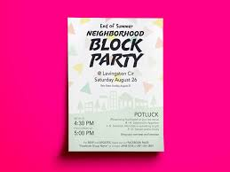 Block Party Flyer Block Party Flyer By Cathy Spengler On Dribbble