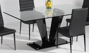 adorable black wood rectangular dining table and glass set vecelo 5 piece modern rectangular dining table e24 modern