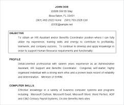 Hr Resume Objective Free Download Admin Resume Objective Template