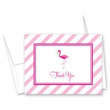 50 Hot Pink Flamingo Thank You Cards