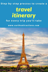 Make A Vacation Itinerary Trip Planning Tips How To Create The Best Travel Itinerary