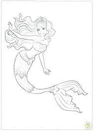 Mermaid Color Page Barbie Mermaid Coloring Page Mermaid Color Pages