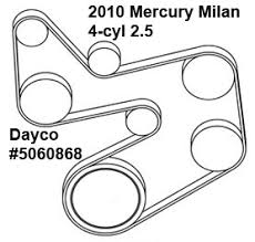 mercury milan cyl liter serpentine belt diagram ricks mercury milan 4 cyl 2 5 liter serpentine belt diagram