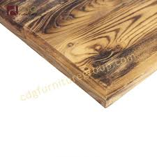 fire burnt finish square round solid wood table tops in restaurant tables ttawv05 30