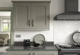 kensington shaker kitchen wall units in painted green
