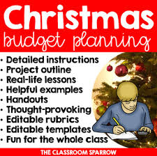 Christmas Math Project Personal Finance Budgeting And Holiday Planning