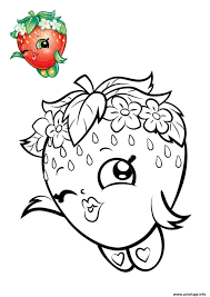 Coloriage Shopkins Fraise Rouge Dessin