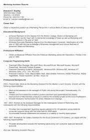 Marketing Assistant Resume Unique Sales And Marketing Assistant Resume Sample Greatest Marketing