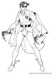 Robin Assistente Di Batman Disegno Da Colorare
