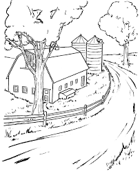 Small Picture Farm scenes coloring page Farm Life Farm barn and silo