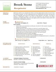 Resume Examples For Receptionist Receptionist Resumes Best Receptionist Resume 32