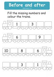 Kindergarten Before And After Number Worksheets 4   Printable ...