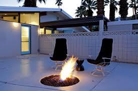 modern concrete patio. Midcentury Modern Palm Springs Patio Concrete