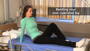 How to get out of bed after hip replacement surgery - YouTube