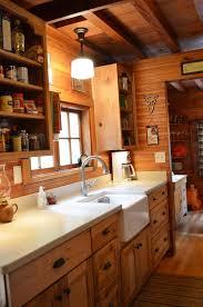 Rustic Cabin Kitchen Rustic Cabin Galley Kitchen Cultivatecom Log Home Ideas