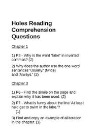 holes by louis sachar reading prehension questions