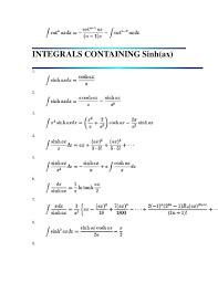 Integral Of Cosh Math Common Derivatives And Integrals Visit