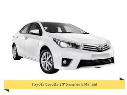 Toyota Corolla 2016 Owner's Manual - Free Download repair service ...