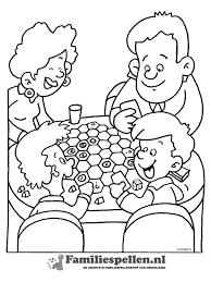 Kleurplaat Spelletje Catan Met De Familie Kleurplatennl
